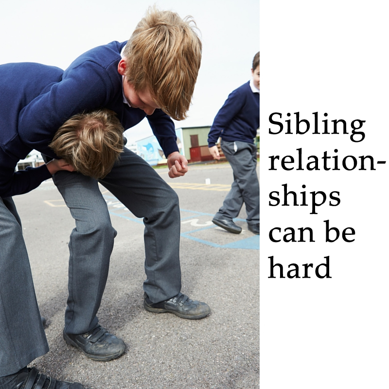 Sibling relationships can be hard.